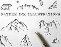 Wild Nature Ink Illustrations