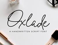 Oxlade Handwritten Script Font