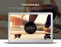 Sk8er - iOS8 Inspired Multi-Purpose Parallax Theme