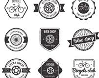Bicycle badge set