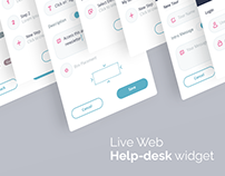 Web Help-Desk Widget design
