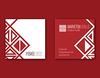 Pémée déco - Logo, business card, web design