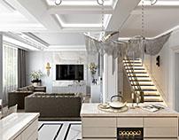 Apartment Design. 3D Rendering in New York.