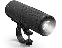 Photive bicycle speaker rendering and image description