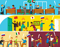 Editorial Illustrations for Kellogg Business School