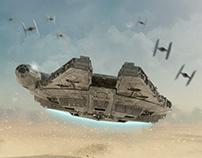 Last Flight of the Millennium Falcon