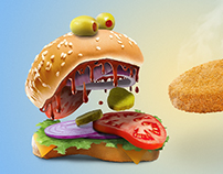 Tasty Burger Photo Ad