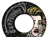 """Terror"" skateboard wheel illustration for Skaterror Co"