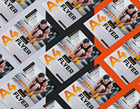 Free Grid Flyer Mockup