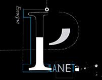 Planeta | Desplegable Tipográfico