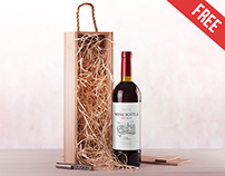 Wine Bottle - Free PSD Mockup