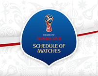 FIFA WC Russia 2018 Schedule of Matches