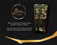 Handmade chocolate branding and packaging