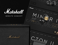 Marshall Headphones — website concept