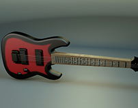 3D Art Electric Guitar