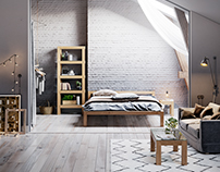 Furniture in Scandinavian style