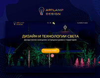 Corporate website for a lighting agency