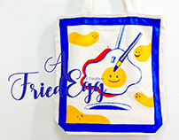 ::: A Fried Egg x Troublexy | Tote Bag Painting :::
