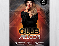 Club Melody - Free PSD Flyer Template