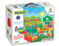Blocks for kids packaging graphic design for WADER