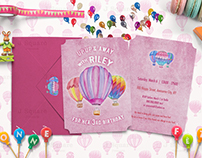 A7 Birthday Invite Mock Ups mini pack