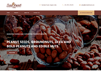 Website for a food company in India
