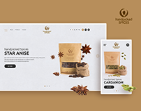 Handpicked Spices Website Project