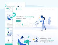 Landing page design - Rokrooms