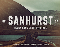 Sanhurst - Block Sans Serif Font