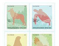 Endangered Species Postage Stamp Design