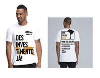Camiseta Global Desinvestment Moviment - 350.org Brasil