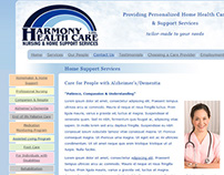 Website design for Harmony Health Care (2009)