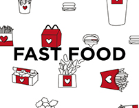 FAST FOOD / PatternPattern / Illustration