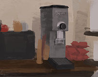 Still life quick painting! -Prism coffee, Los Angeles