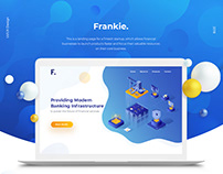 Landing page design for financial SaaS business