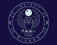 Owl Logo | Line Art Badge
