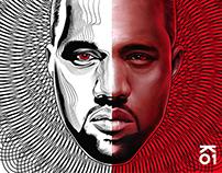 Kanye West - (Half Portrait)