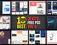 10 Best UI Kits Free PSD Vol 4