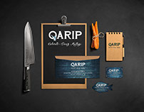 Qarip Restaurant Corporate Identity and Web Design