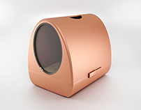 Copper litter box concept