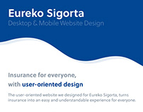 Eureko Sigorta Website Design by SHERPA