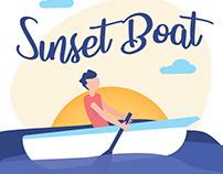 Free* Flat Sunset Boat 🚤