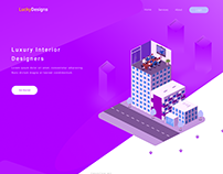 LuckyDesigns Home Page UI