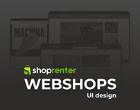 3 webshop UI designs for ShopRenter