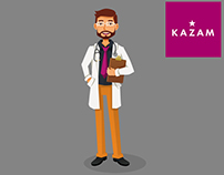 Vector illustration for company KazamPolska