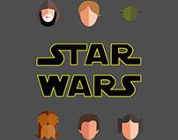 Star Wars Flat Illustration