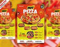 Pizza Shop Flyer PSD Template