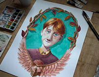 Ron Weasley - A3 Watercolour