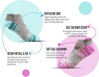 Amazon A+ Content Design/EBC Design - Women Socks
