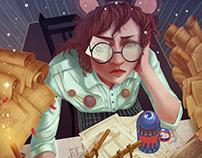 Архитектор Мышка \ иллюстрация к детской сказке